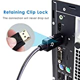 Rankie Verbindungskabel DisplayPort (DP) auf DisplayPort(DP), 4K-Auflösung Bereit Kabel, 1,8m, Schwarz - 6