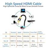 HDMI Kabel 2.0 / 1.4a (Neuster Standard) Ultra HD 4K@60Hz 3D PS4 Full HD 1080p 2160p ARC Highspeed mit Ethernet – 2M IBRA LUXURY GOLD - 6