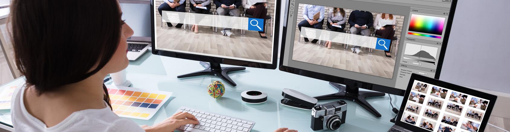 Monitor für Bildbearbeitung